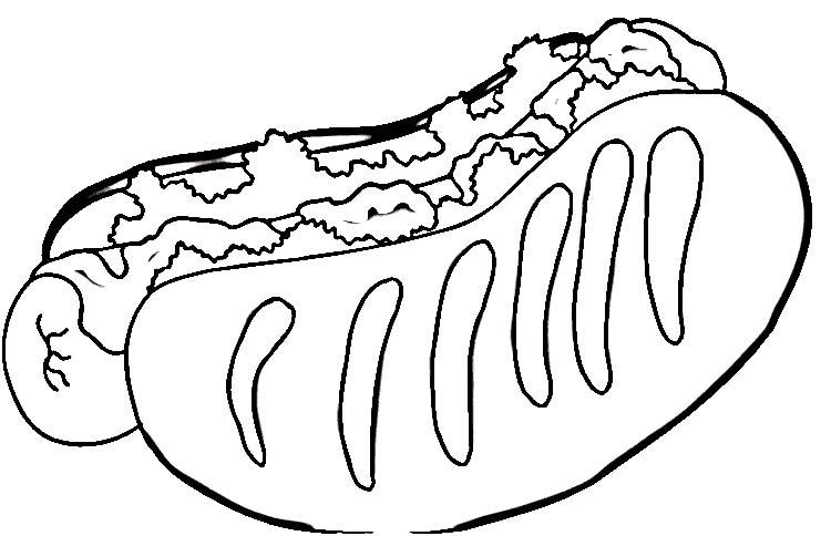 Hot dog coloring pages ~ Desenhos para Colorir: Fast Food