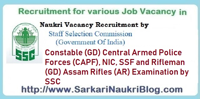 SSC Constable Rifleman CAPF Examination