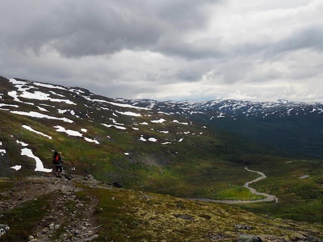 Fleskedalen, Norsko, Jotunheimen, příroda, turistika, trek