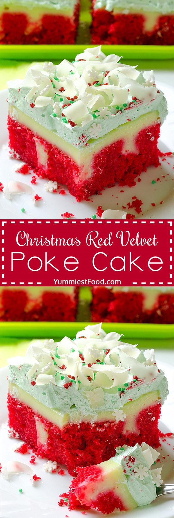 Christmas Red Velvet Poke Cake Recipe