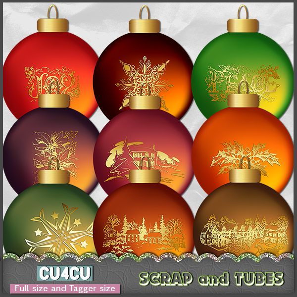 FREEBIE - Christmas Balls Vol 6 FS FCU4CU