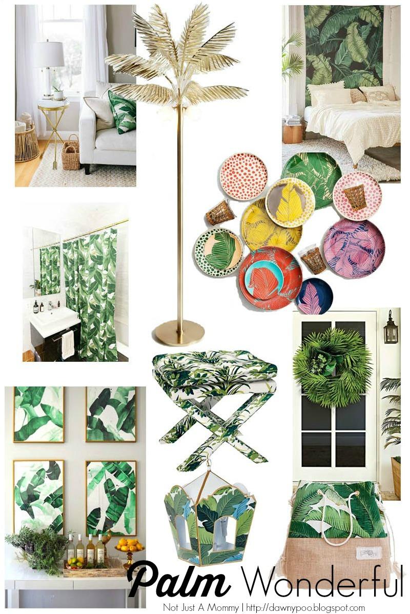 Palm Wonderful - palm leaf inspired decor!