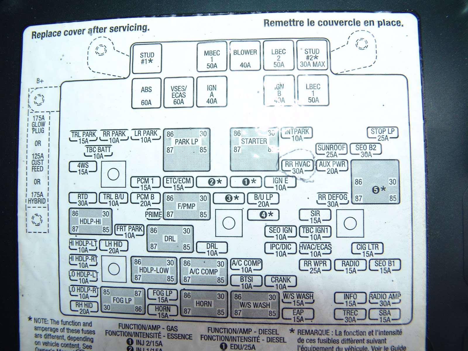 2004 chevrolet tahoe rear blower will not turn off 2005 acura tsx fuse box 2005 acura rl fuse box diagram