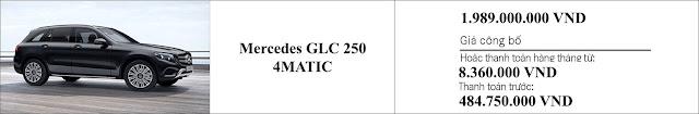 Giá xe Mercedes GLC 250 4MATIC 2019 ưu đãi giam giá hấp dẫn tại đail lý Mercedes