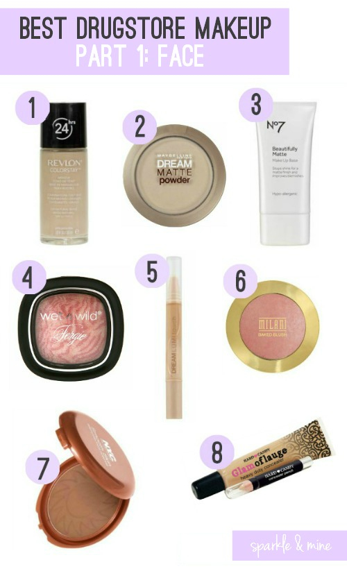 Sparkle Mine Best Drugstore Makeup Ever Part Face