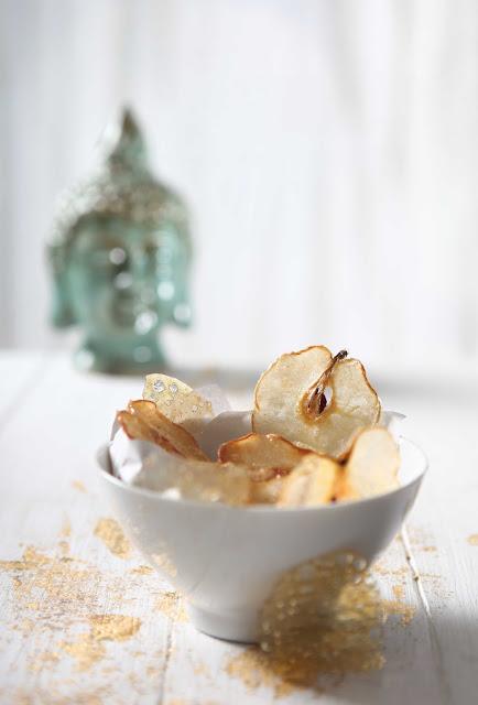 glazed nashi pears