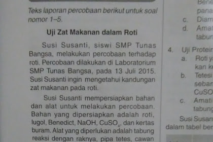 Soal PAS Bahasa Indonesia Kelas 9 Semester 1 2019-2020