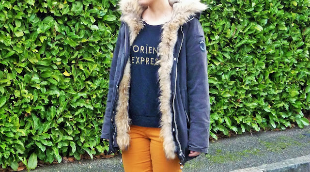 Look Mode Sézane sweat orient express