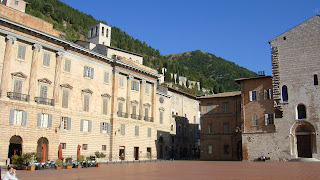 The Piazza della Signoria is at the heart of Gubbio