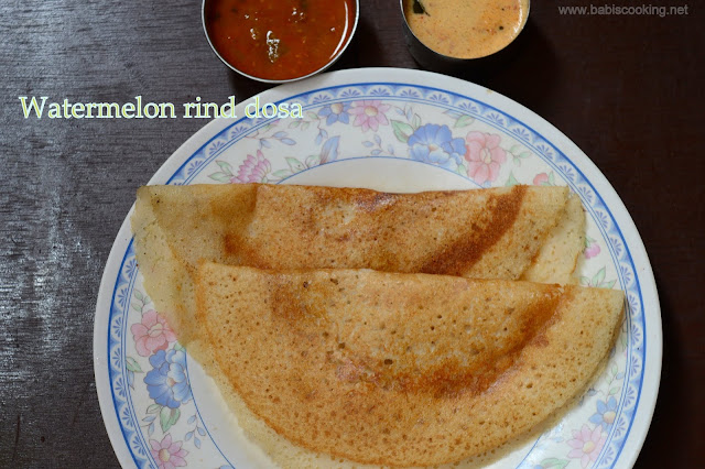 Watermelon rind Dosa |  Breakfast Recipe