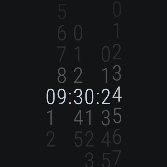 Slide Clock Wallpaper Engine