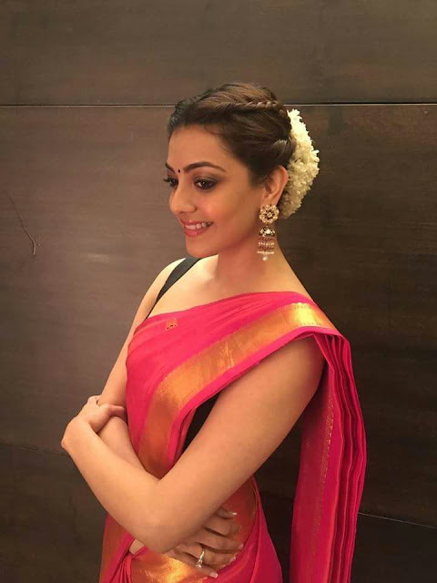 IMG 20170803 WA0411 - Kajal Agarwal Sexy Photos In Hot Red Saree For Nene Raju Nene Mantri Movie Promotion