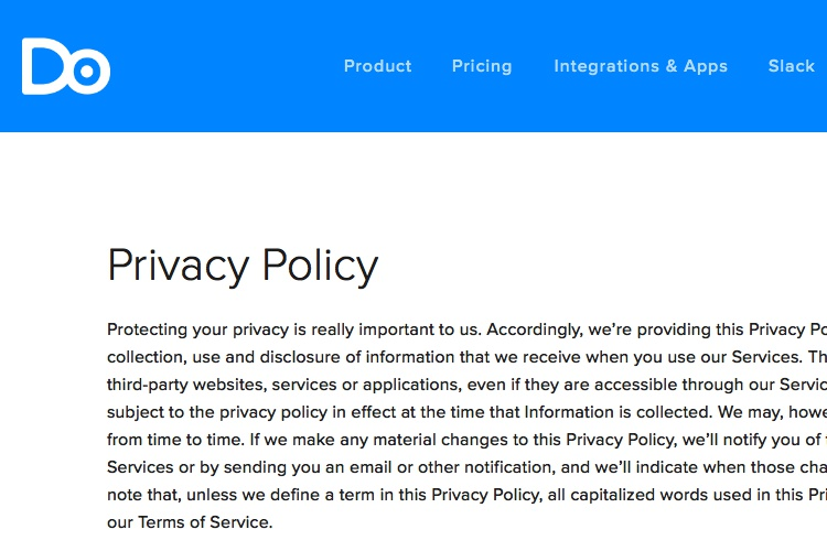 Terms Of Use And Privacy Policy Template Privacy Policy Templates In PDF Format Excel Template