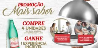 Cadastrar Promoção Mais Sabor Água Mineral São Lourenço