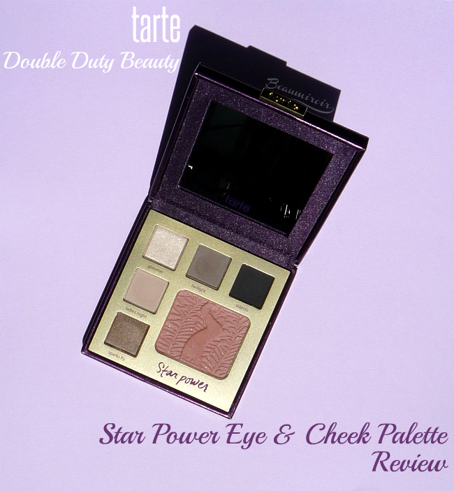Review, photos and swatches of the Eye & Cheek Palette in Star Power from tarte's new Double Duty Beauty collection