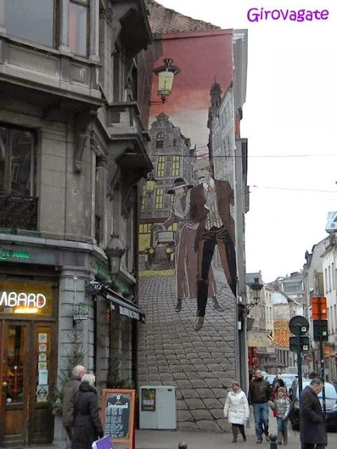 comic strip route Bruxelles