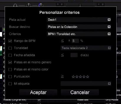 Configurando pistas relacionadas en RekordBox DJ