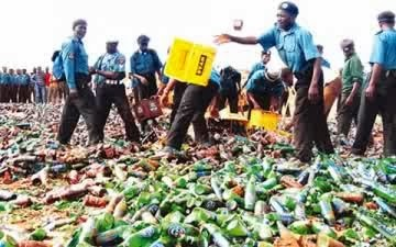 Sharia police declares alcohol consumption 'sin' in Jigawa, destroys dozens of beer bottles