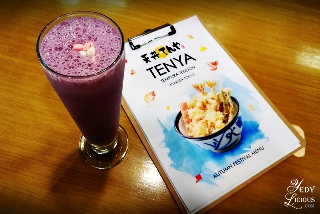 Merry Berry Milkshake Holiday Set Specials at Tenya Tempura Philippines Blog Review New Menu Best Tempura in Manila YedyLicious Manila Food Blog Tenya Megamall Food Street BGC Stopover Market Market SM Southmall