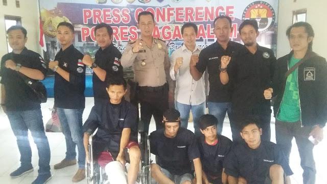 4 Bandit Keok Ditangkap Team TATAIKA Polsek PAU