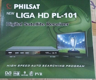 Receiver Philsat New Liga HD PL 101 PowerVu