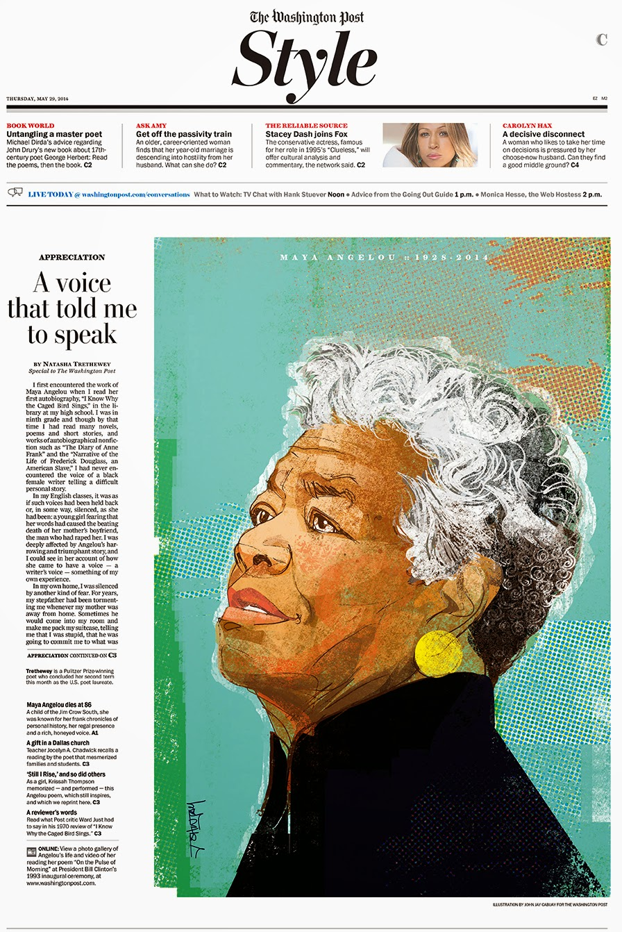 THEISPOT COM: Illustration News: John Jay Cabuay: Maya Angelou