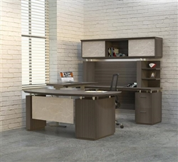 Ergonomic Executive Office Desk with Height Adjustable Bridge