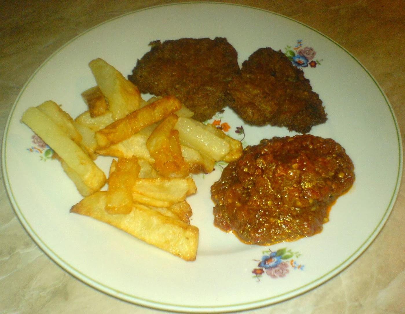mancaruri de post, soia snitele cu cartofi prajiti si zacusca, retete culinare, retete de post, preparate din soia si cartofi,