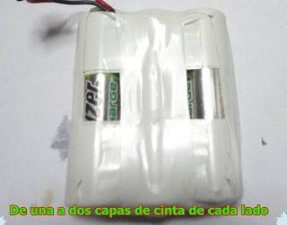 """"""" Batería, pila recargable 3,6 V y 600 mAh"""""""