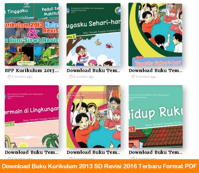 Download Buku Kurikulum 2013 SD Revisi 2016