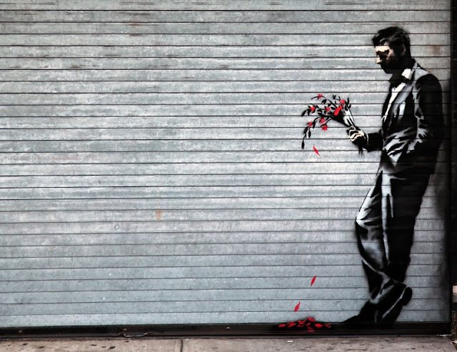 """""""Waiting In Vain..."""" New Street piece By Banksy For Better Out Than In - Hell's Kitchen, New York City. 1"""