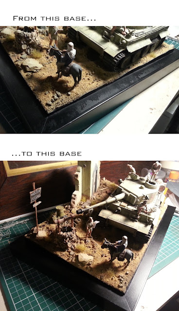 Fixing the base of my Tamiya Tiger I diorama