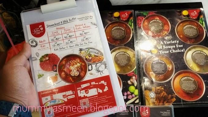 Makanan Sedap Di IOI City Mall Putrajaya : Pak John Steamboat