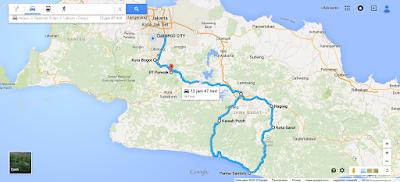 peta menuju pantai santolo garut