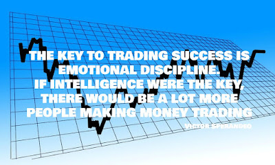 THE KEY TO TRADING SUCCESS IS EMOTIONAL DISCIPLINE.  IF INTELLIGENCE WERE THE KEY, THERE WOULD BE A LOT MORE PEOPLE MAKING MONEY TRADING