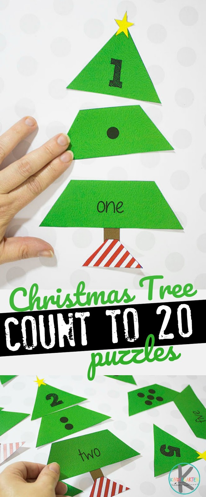 Kindergarten Worksheets and Games: FREE Christmas Tree Count to 20 ...