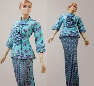 Desain gaun batik pramugari model terbaru cantik