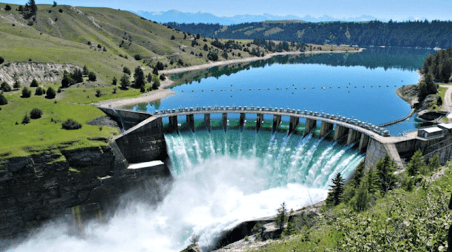 Hyro-power generation natural dam