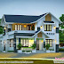 3 BHK beautiful mix roof home plan