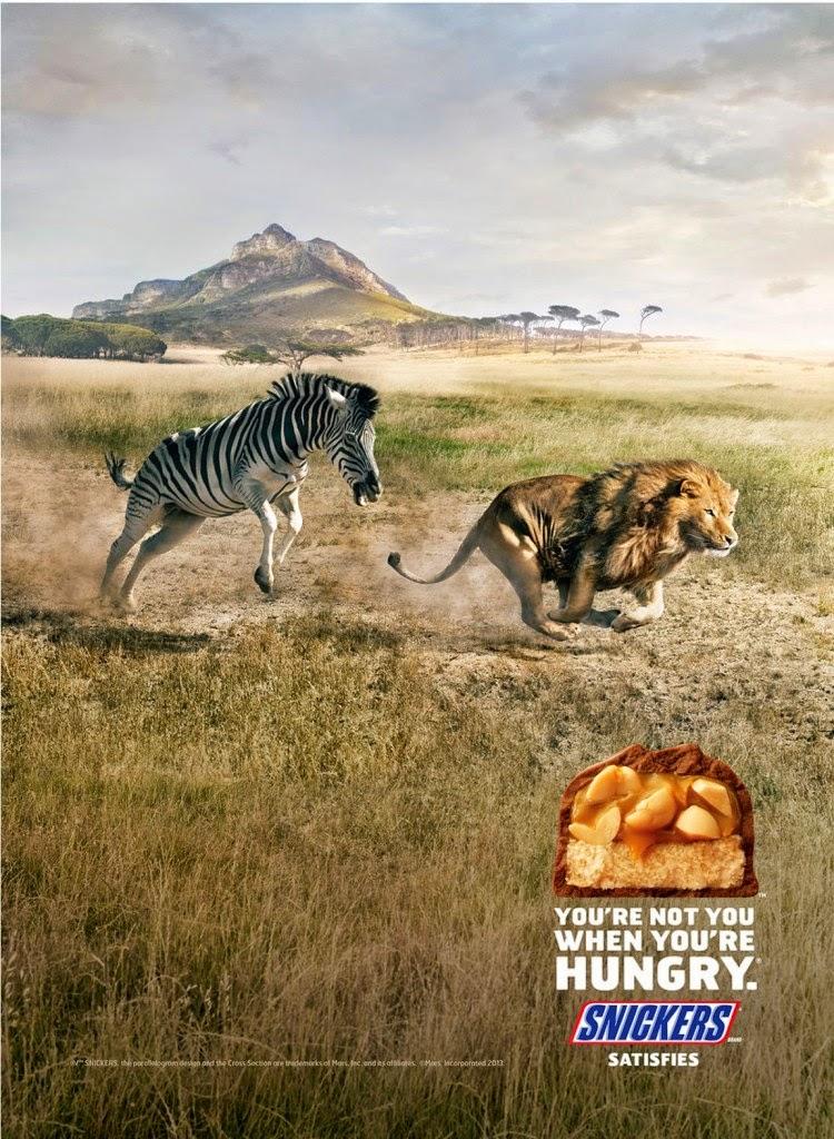 diseño editorial anuncio publicitario creativo snickers