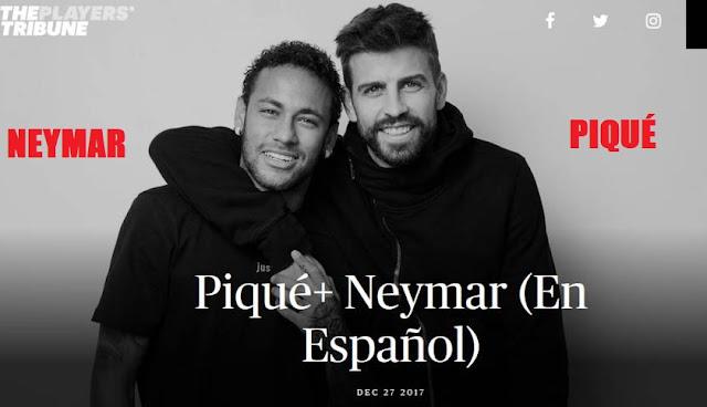 Piqué entrevista a Neymar