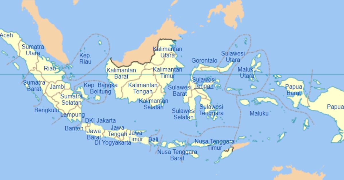 34 Provinsi Di Indonesia Dan Ibukotanya Secara Berurutan Lengkap