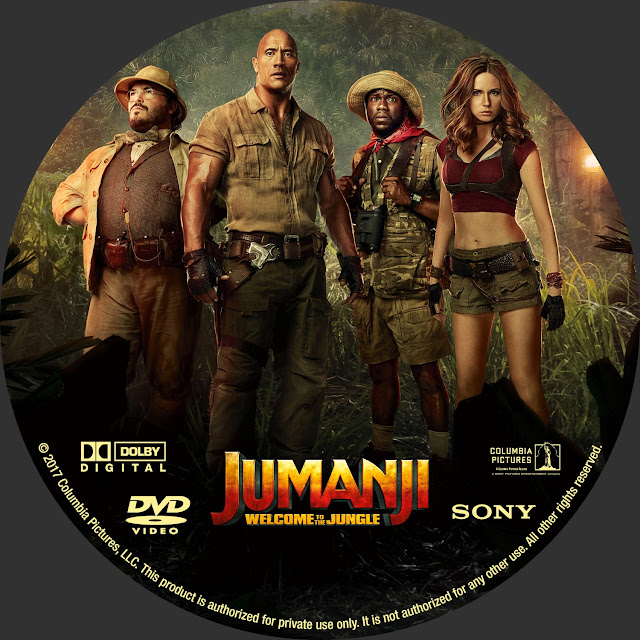 Jumanji Welcome To The Jungle DVD Label