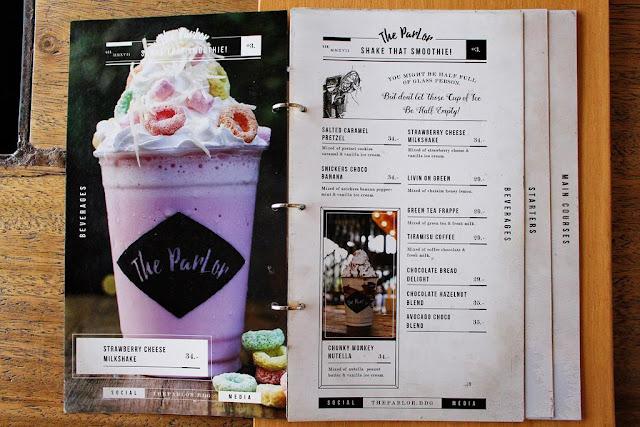 menu the parlor bandung
