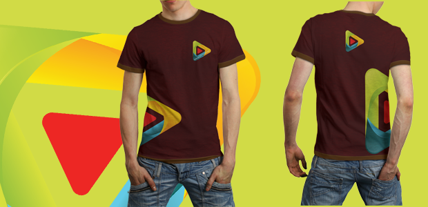 Male T-Shirt Mockup Template