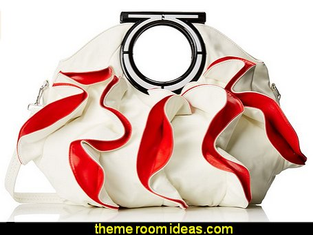 Ruffles Double Handle Statement Tote Purse
