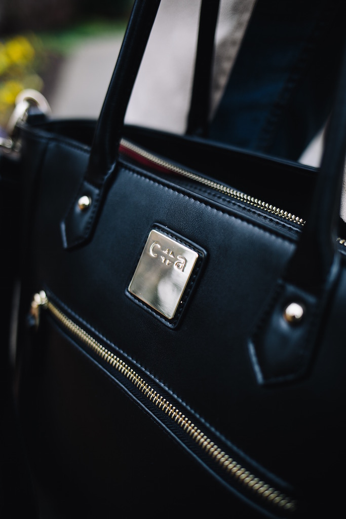KBStyled: black diaper bag black bag black leather bag