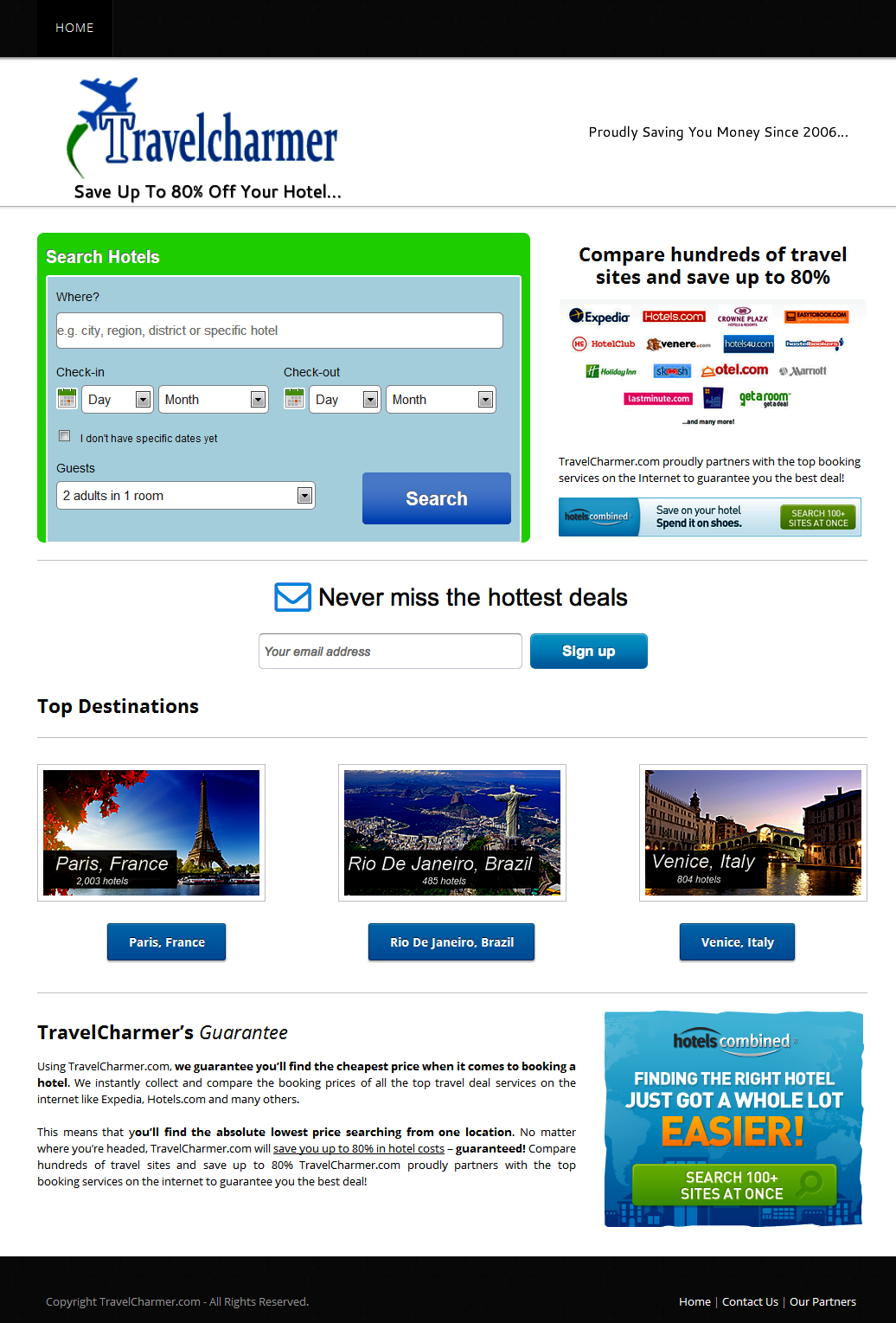 Travel Charmer Web Development on Weebly