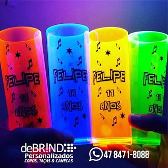 Copo long drink neon 2018 personalizado