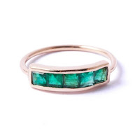 Modern Green Jewellery -  i&i ermerald Ring